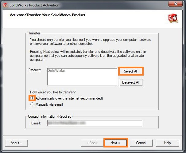How to transfer SolidWorks license from one computer to