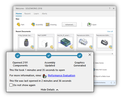 The assembly user experience has been enhanced right from